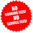 No Booking Fees, No service Fees